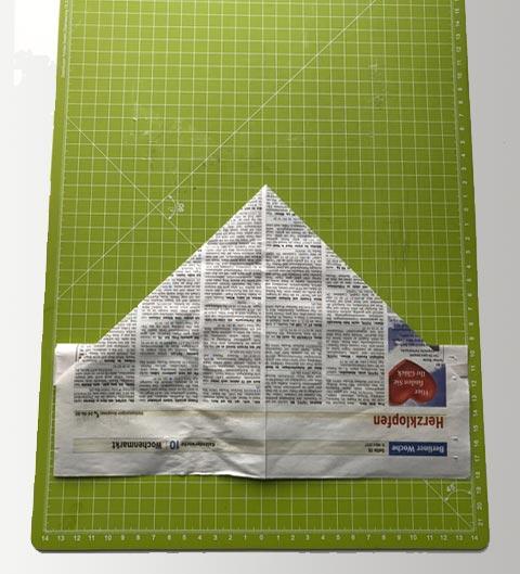 Das Papier umdrehen.