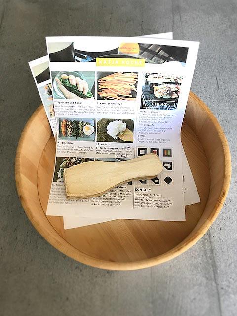 Für die Kochsession habe ich die Rezepte mit Schritt-für-Schritt Anleitungen vorbereitet.