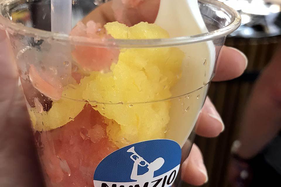 """Mein Favorit: das Wassermelonen und Orange-Vanille Granita von """"Nunzio""""."""
