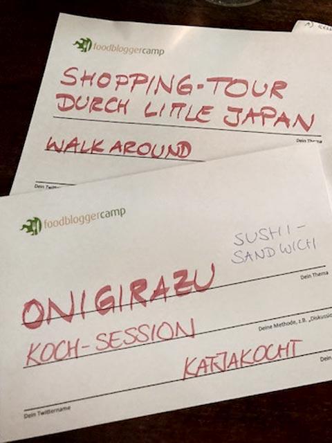 Meine beiden Sessions beim Food-Blogger Camp in Düsseldorf: Shopping-Tour durch Little Tokio und der Onigirazu-Kochkurs.