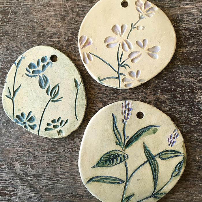keramiek schilderij voor tuin wilde bloemen