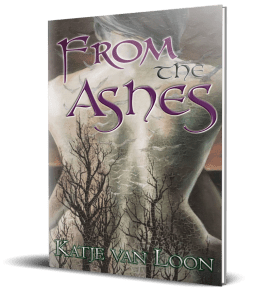 A 3D Rendering of the From the Ashes book cover.
