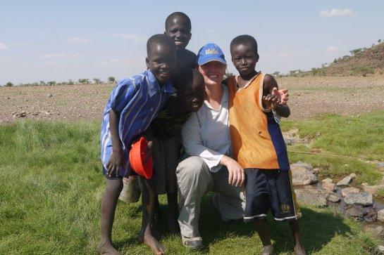 Kat with kids