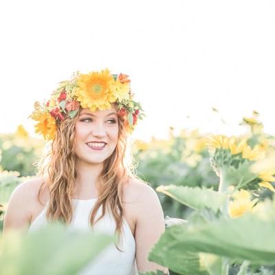 Sunsets and Sunflowers- Lodi Senior Portrait Session