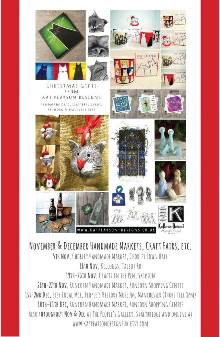 Kat Pearson Designs Christmas Craft Fairs and Handmade Markets