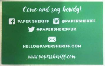 Paper Sheriff Cards