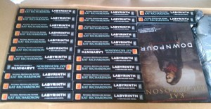 Boxload of Labyrinth paperbacks