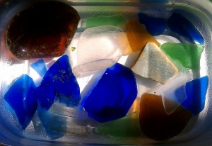 Container of Beach Glass