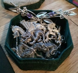 Box full of dragons and some assorted treasure--because all dragons must have treasure, just ask Smaug.