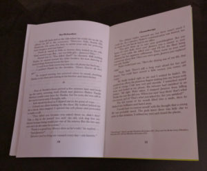 Mock up interior showing final page (and copyright information) of the full, printed imposition.