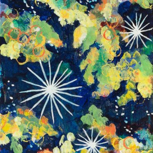 """Stardust and Light,"" an abstract acrylic painting by Katrina Allen. Visit katrinaallenart.com to see more and order prints."