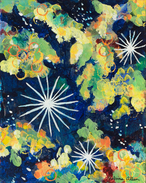 """""""Stardust and Light,"""" an abstract acrylic painting by Katrina Allen. Visit katrinaallenart.com to see more and order prints."""
