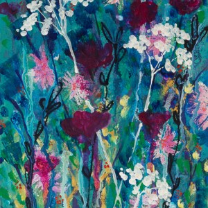 """A Glimmer of Enchantment,"" an abstract floral acrylic painting by Katrina Allen. Prints can be ordered at katrinaallenart.com."