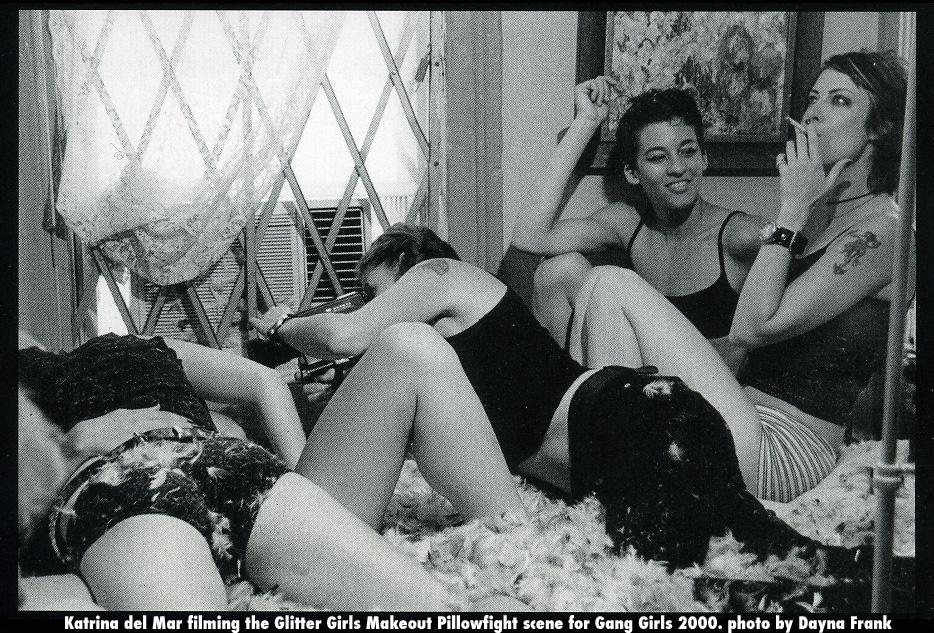 Katrina filming Gang Girls 2000 photo by Dayna Frank