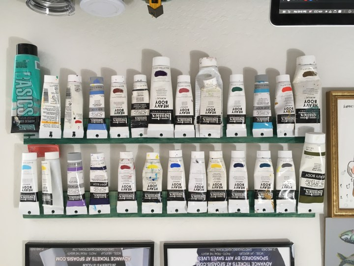 paint organization for wall