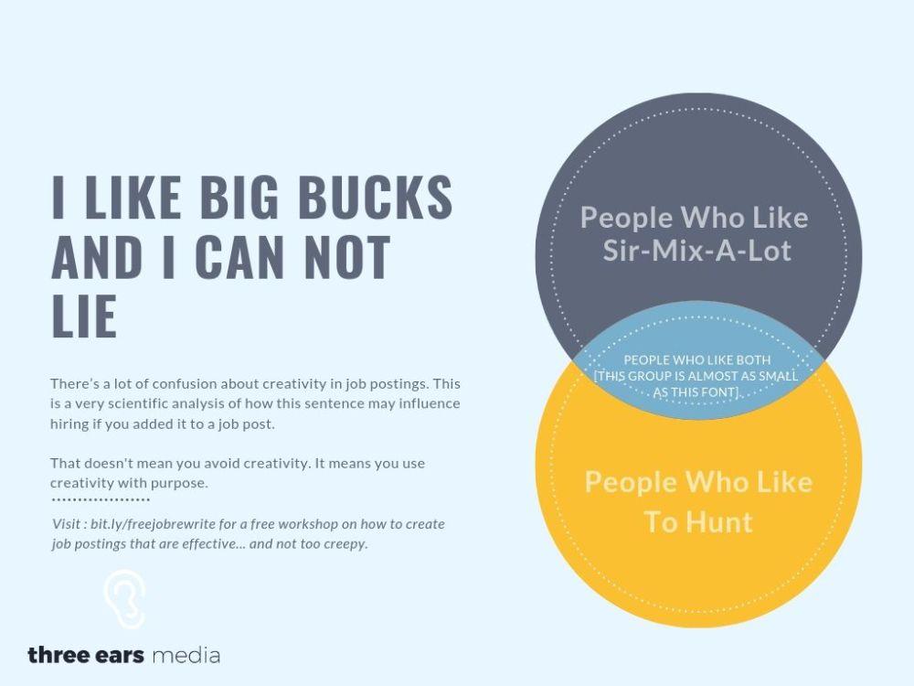 I like big bucks and i can not lie