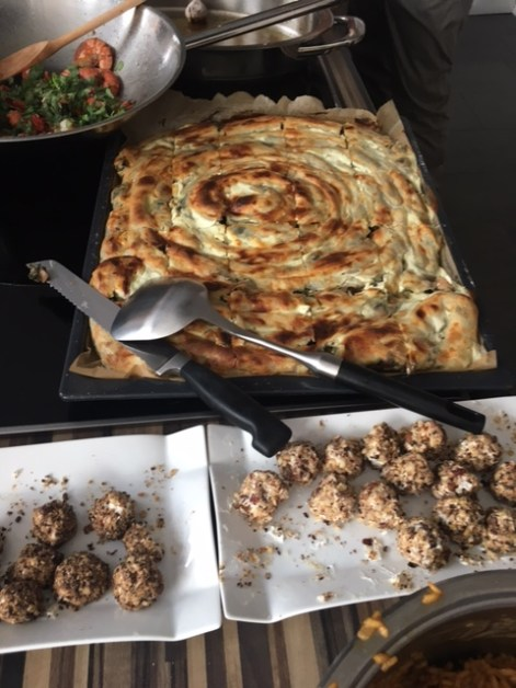 Das fertige Börek mit Spinat und Feta