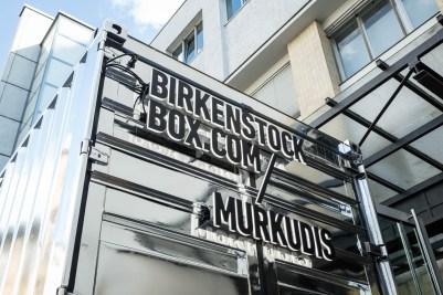 Das coole Äußere des Pop-Up-Containers Foto: Birkenstock
