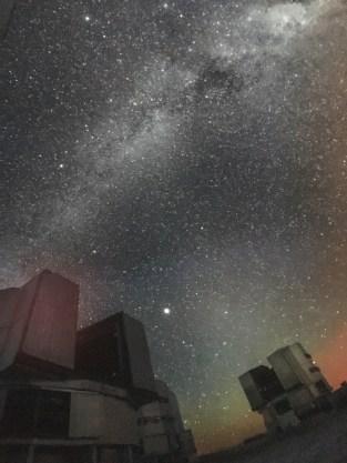 Die Sternwarte in der Atacama Wüste