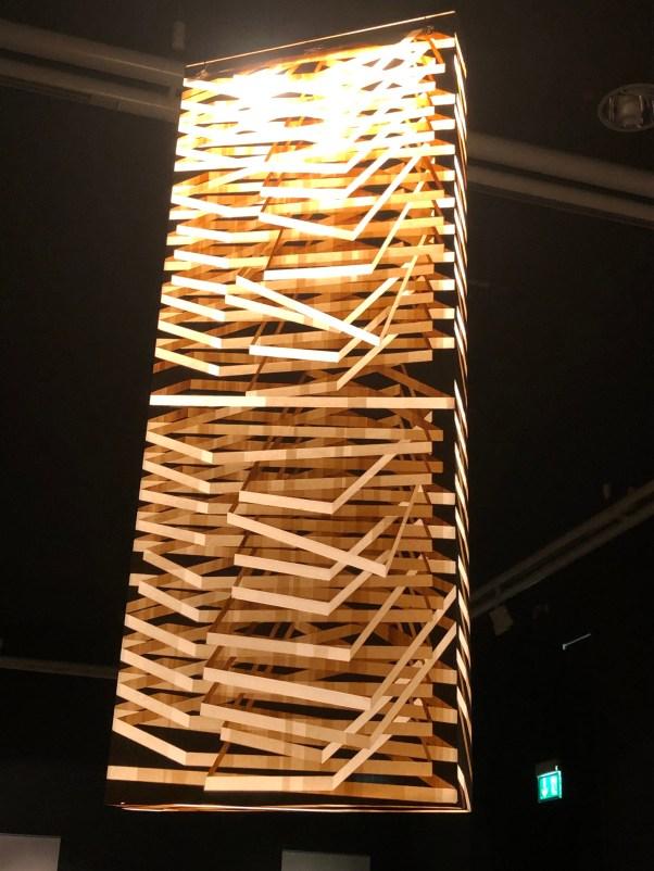 Lampenkunstwerk aus Japanpapier