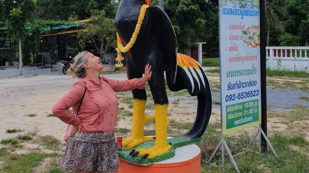 Ich zeige Urlaubsmode in Thailand