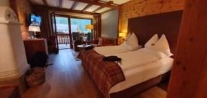 Ansicht des Hotelzimmers im Hotel Bad Moos in Sexten