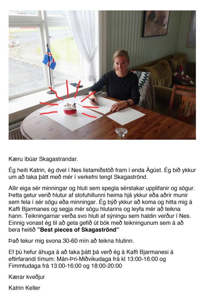 "Aushang ""Pieces of Skagaströnd"""