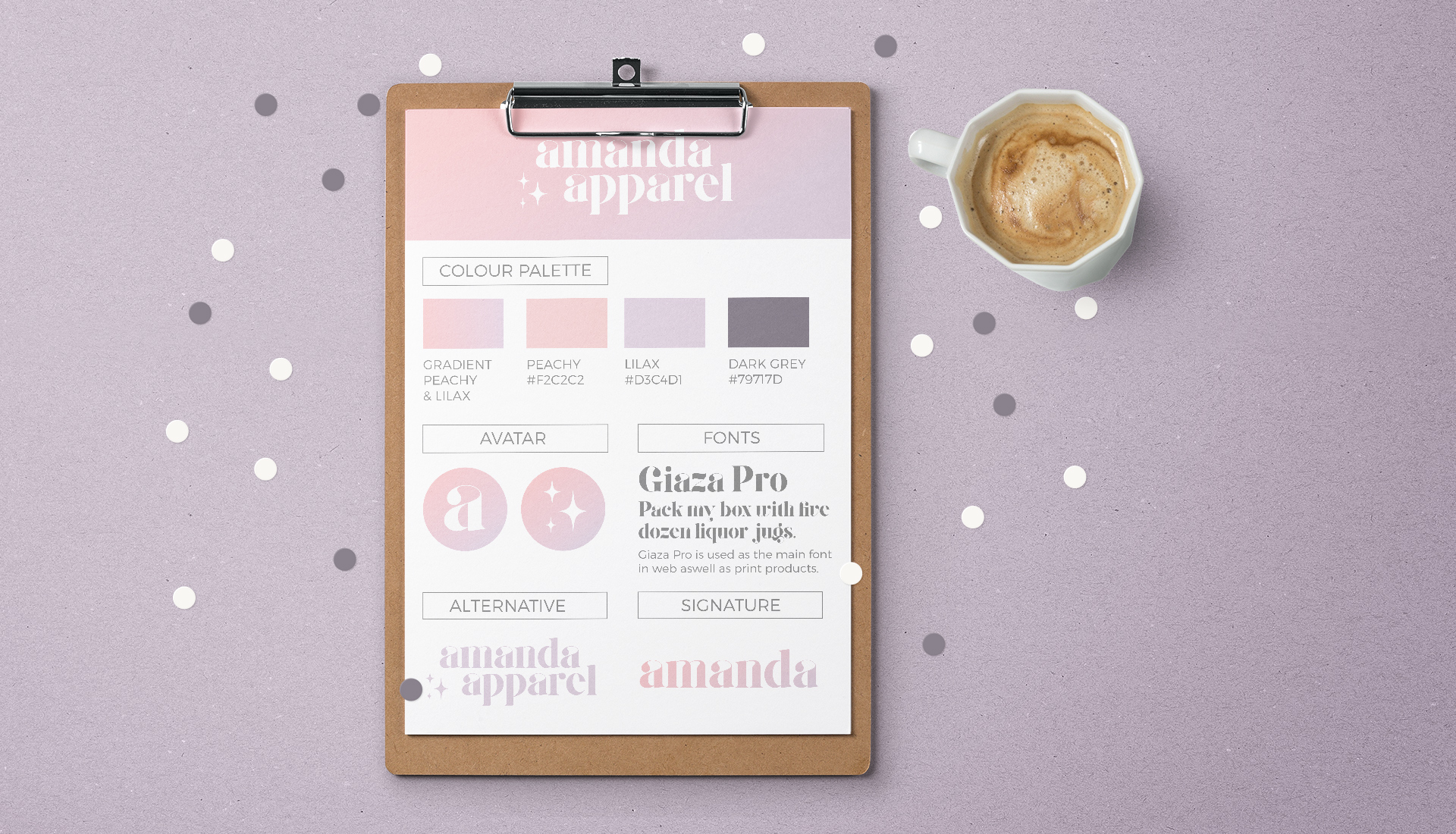 Clipboard shows the stylesheet for Amanda Apparels blog logo