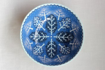 winter forest large bowl