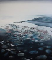 WATERLINES 4, oil on canvas 150 x 130 cm, 2012