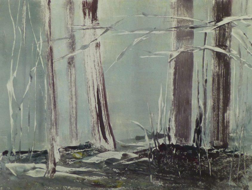 WOODLAND 41, 2015 Monotypie 30 x 40 cm