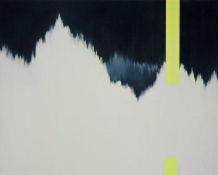 VERTIKAL 14, 2016 Öl auf Leinwand 40 x 50 cm