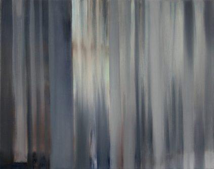 VERTIKAL 8, 2016 Öl auf Leinwand 40 x 50 cm