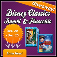 Disney Giveaway Fun - Win Walt Disney Classics Pinocchio and Bambi