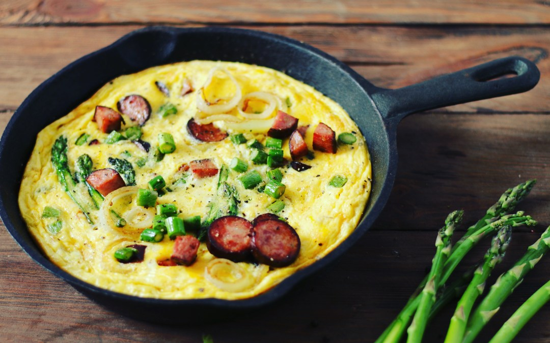 Frittata with Asparagus and Kielbasa