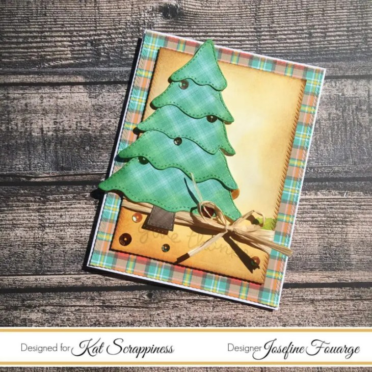 christmas tree die fall card
