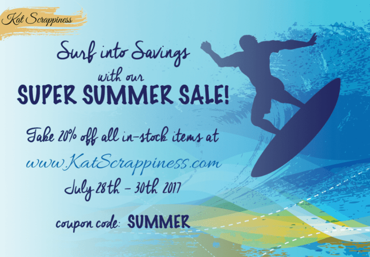 Super Summer Sale at Kat Scrappiness