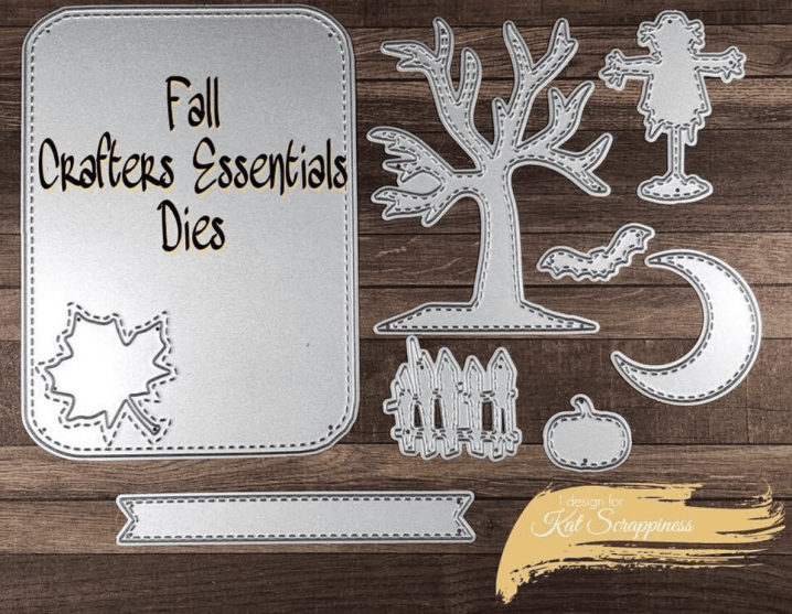 Kat Scrappiness Crafters Essentials FALL Dies