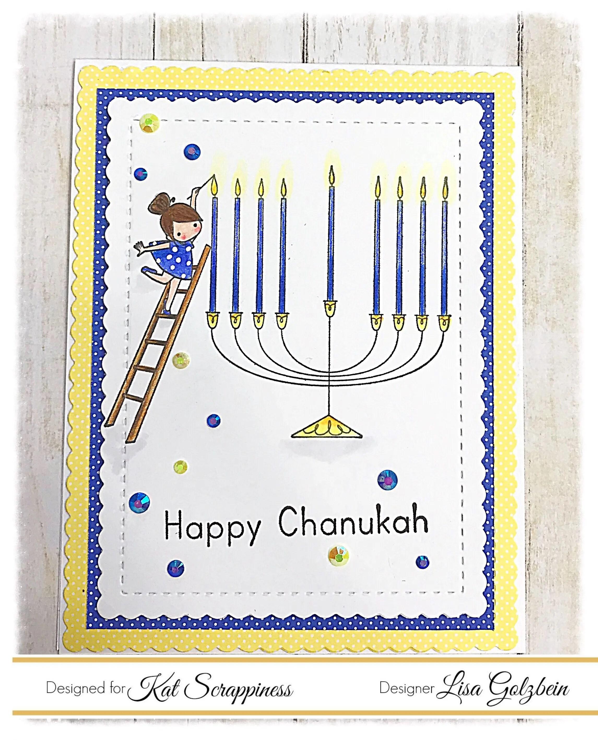 Happy channukah menora