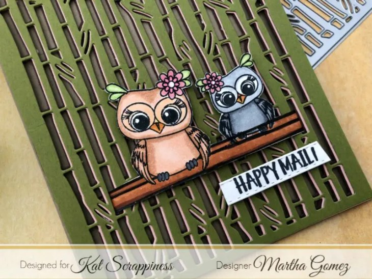 Bamboo Background Die by Martha Lucia