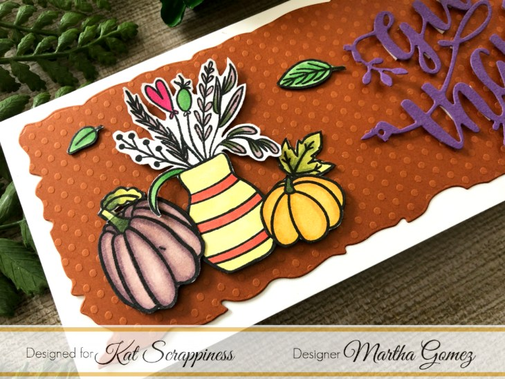 Give Thanks Die Cut Card by Martha Lucia