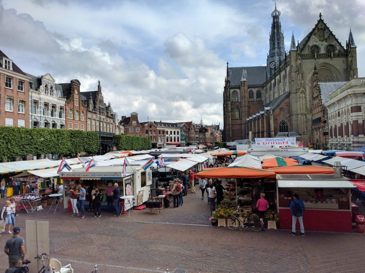 open-air market in town square