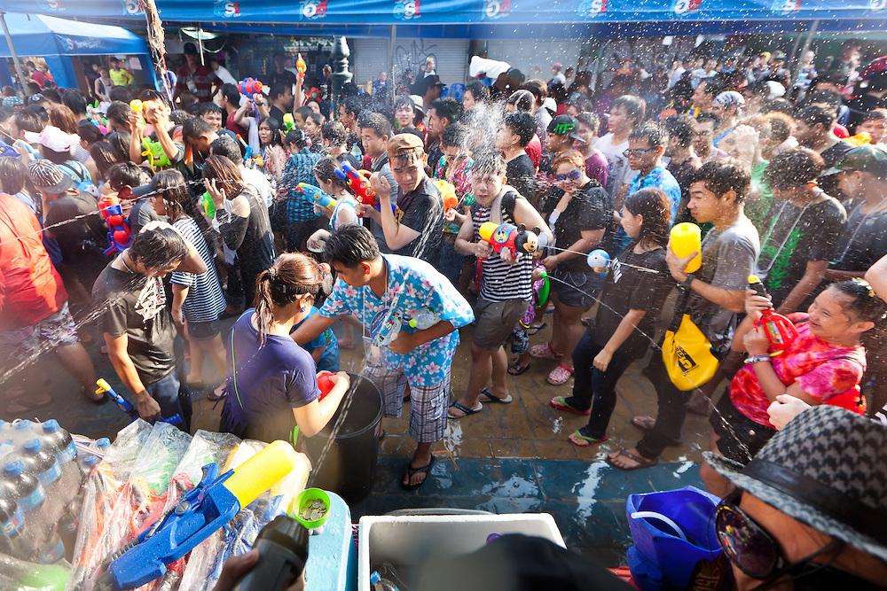 Ban Songkarn Festival water