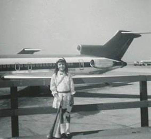 A Little Girl World Traveler, JFK New York