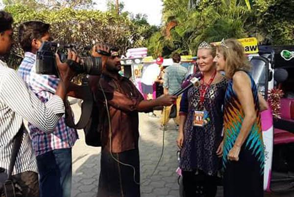 Tamil Nadu, India: Rickshaw Challenge Television Interview