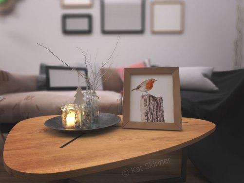 The Robin In Frame by Kat Skinner