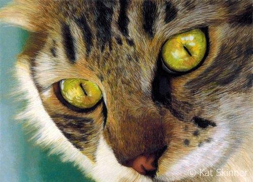 King Of Cats, Pastel Artwork