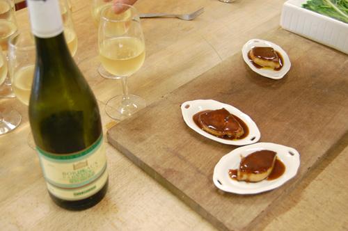 Foie gras, sauce chocolat