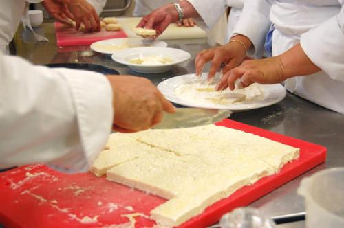 Fondu au fromage panés