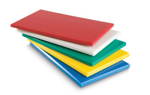 Planches à découpe de couleur